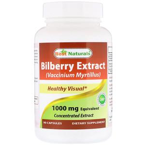Best Naturals, Bilberry Extract (Vaccinium Myrtillus), 1000 mg, 90 Capsules отзывы