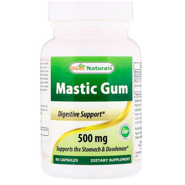 Best Naturals, Mastic Gum, 500 mg, 60 Capsules