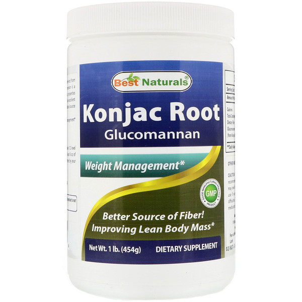 Best Naturals, Konjac Root Glucomannan Powder, 1 lb (454 g) (Discontinued Item)