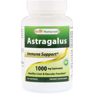 Best Naturals, Astragalus, 1000 mg, 120 Capsules
