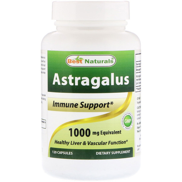 Best Naturals, Astragalus, 1000 mg, 120 Capsules (Discontinued Item)