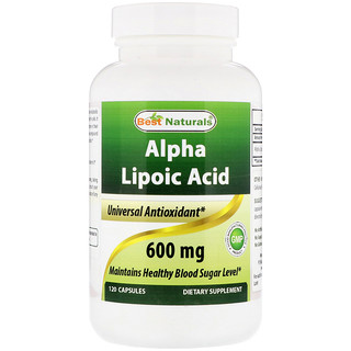 Best Naturals, Alpha Lipoic Acid, 600 mg, 120 Capsules