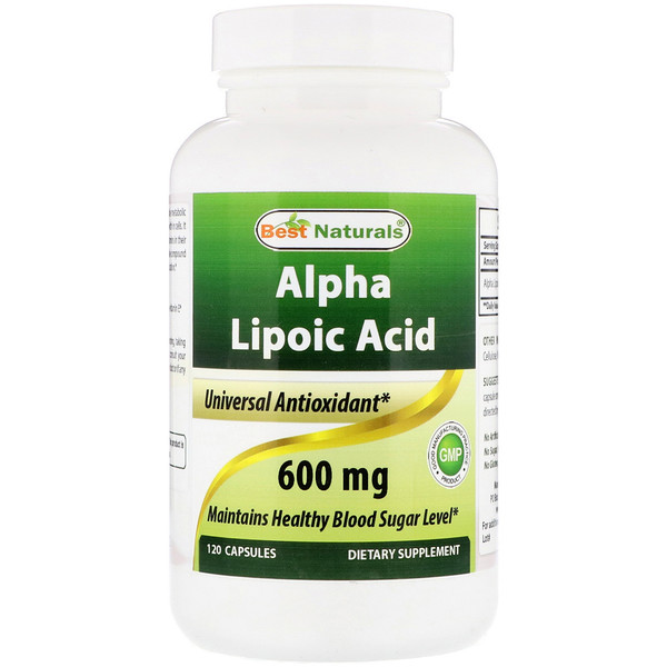 品牌從A - ZBest Naturals類別補充品抗氧化劑阿爾法硫辛酸:Best Naturals, Alpha Lipoic Acid, 600 mg, 120 Capsules