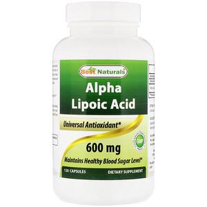 Best Naturals, Alpha Lipoic Acid, 600 mg, 120 Capsules отзывы