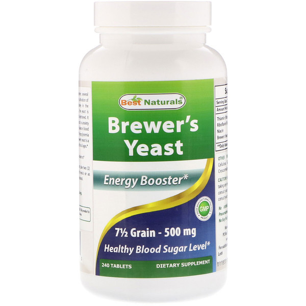 Best Naturals, Brewer's Yeast, 500 mg, 240 Tablets (Discontinued Item)
