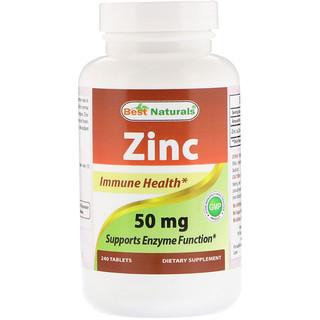Best Naturals, Zinc, 50 mg, 240 Tablets