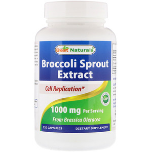 Best Naturals, Broccoli Sprout Extract, 1000 mg, 120 Capsules отзывы