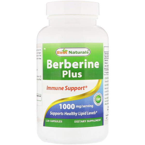 Best Naturals, Berberine Plus, 1000 mg/Serving, 120 Capsules (Discontinued Item)