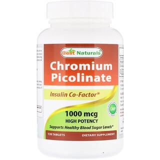 Best Naturals, Chromium Picolinate, 1000 mcg, 120 Tablets