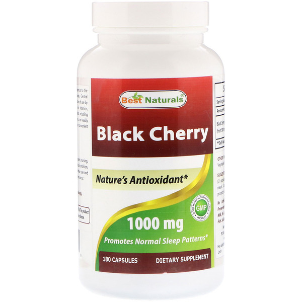Best Naturals, Black Cherry, 1000 mg, 180 Capsules