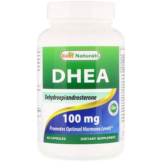 Best Naturals, DHEA, 100 mg, 60 Capsules