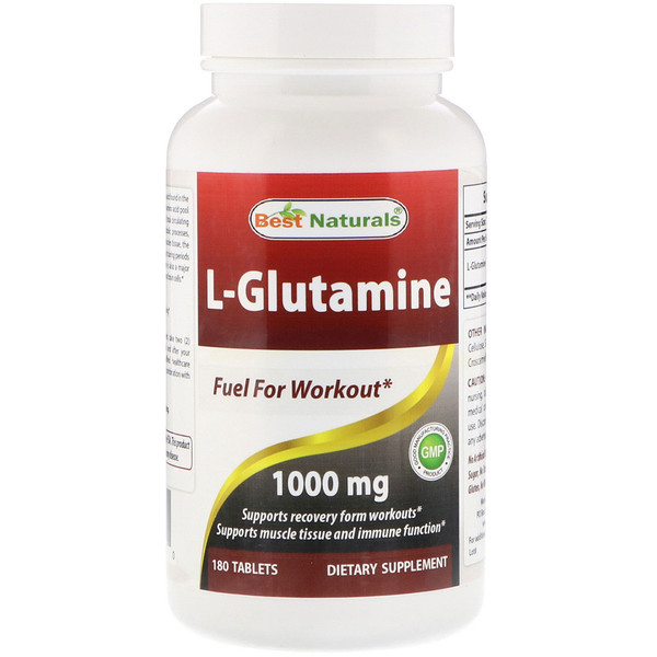 Best Naturals, L-Glutamine, 1000 mg, 180 Tablets