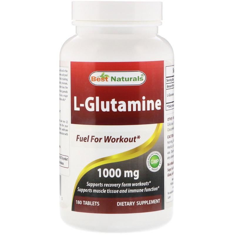 L-Glutamine, 1000 mg, 180 Tablets