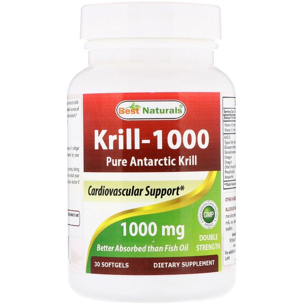 Best Naturals, Krill Oil, 1000 mg, 30 Softgels