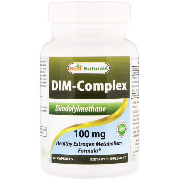 Best Naturals, Dim-Complex, 100 mg, 60 Capsules (Discontinued Item)