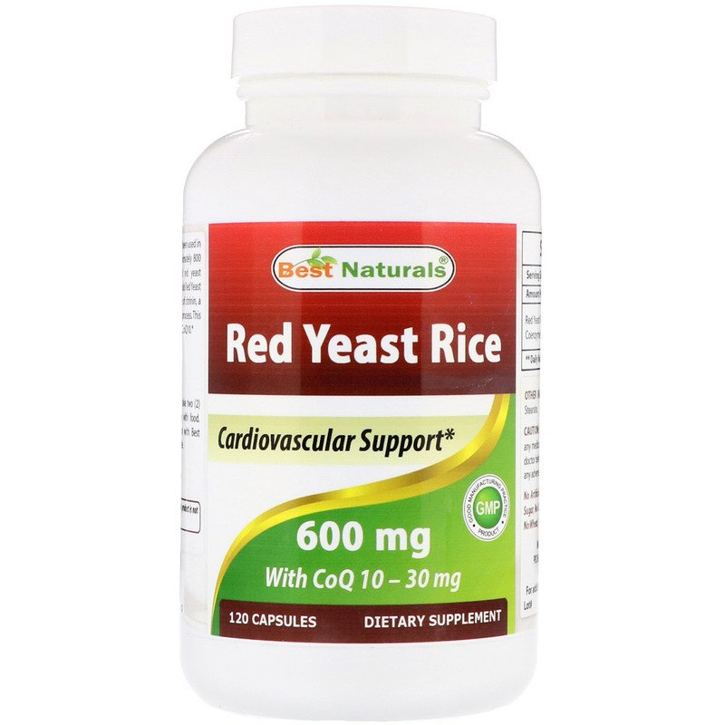 Red Yeast Rice, with CoQ10, 600 mg, 120 Capsules