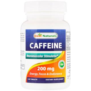Best Naturals, Caffeine, 200 mg , 120 Tablets