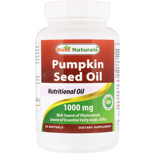 Best Naturals, Pumpkin Seed Oil, 1000 mg,  90 Softgels