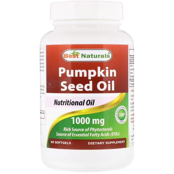 Best Naturals, Pumpkin Seed Oil, 1000 mg,  90 Softgels