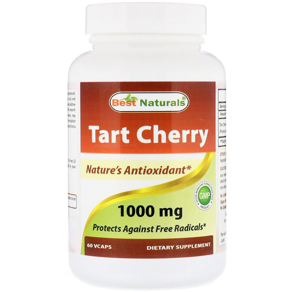 Best Naturals, Tart Cherry, 1000 mg , 60 VCaps (Discontinued Item)