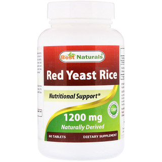 Best Naturals, Red Yeast Rice, 1200 mg, 60 Tablets