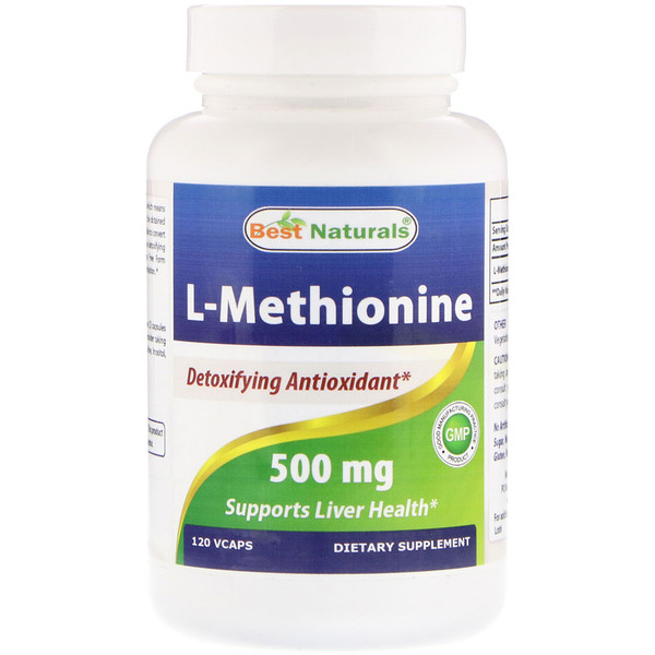 Best Naturals, L-Methionine, 500 mg, 120 Vcaps (Discontinued Item)