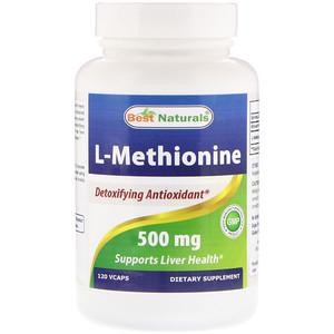 Best Naturals, L-Methionine, 500 mg, 120 Vcaps отзывы