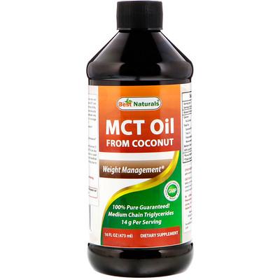 Best Naturals MCT椰子油,16液盎司(473毫升)