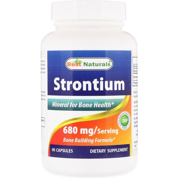 Best Naturals, Strontium, 680 mg, 90 Capsules (Discontinued Item)