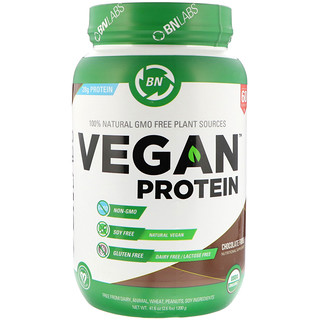 BN LABS, Vegan Protein, Chocolate Fudge, 2.6 lbs (1200 g)