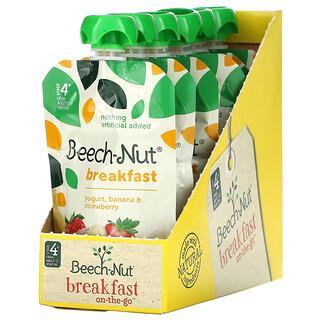 Beech-Nut, 早餐,4 段,酸奶、香蕉和草莓,12 袋,每袋 3.5 盎司(99 克)