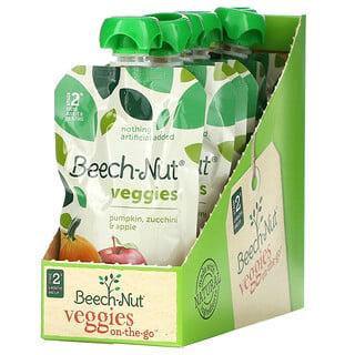 Beech-Nut, Veggies, Stage 2, Pumpkin, Zucchini & Apple, 12 Pouches, 3.5 oz (99 g) Each