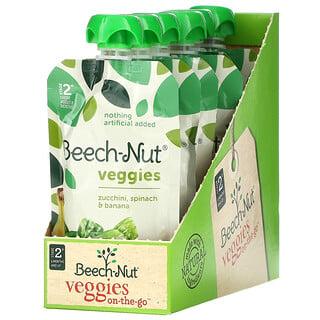 Beech-Nut, Veggies,2 段,意大利青瓜、菠菜、香蕉,12 袋装,每袋 3.5 盎司(99 克)