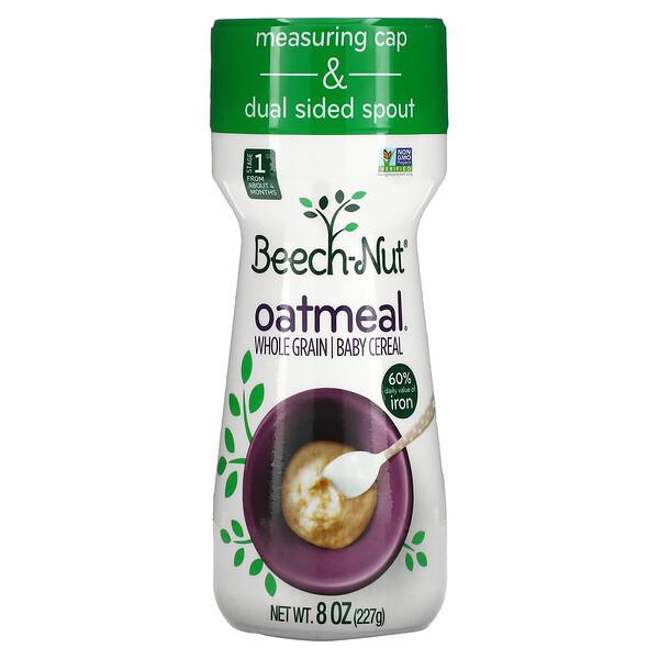 燕麥,全谷物嬰兒麥片,1 段,8 盎司(227 克)