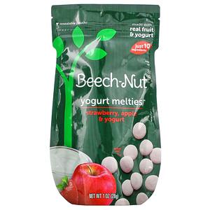Beech-Nut Nutrition, Yogurt Melties, Strawberry, Stage 3, Apple & Yogurt, 1 oz (28 g)