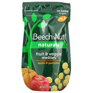 Beech-Nut Nutrition, Naturals,果蔬混合物,3 段,蘋果和南瓜,1 盎司(28 克)