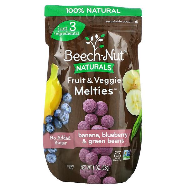 Fruit & Veggie Melties, Stage 3, Banana, Blueberry & Green Beans, 1 oz (28 g)