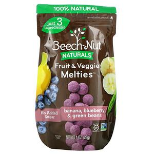 Beech-Nut Nutrition, Fruit & Veggie Melties, Stage 3, Banana, Blueberry & Green Beans, 1 oz (28 g)'