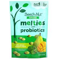 Beech-Nut Nutrition, Naturals, Melties with Probiotics, Stage 3, Pear, Mango, Spinach & Yogurt, 1 oz (28 g)