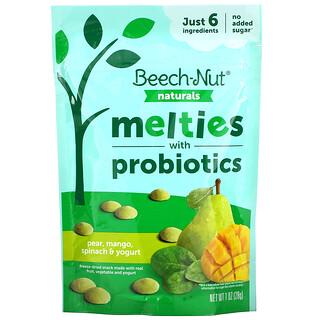 Beech-Nut, Naturals, Melties with Probiotics, Stage 3, Pear, Mango, Spinach & Yogurt, 1 oz (28 g)