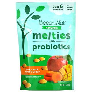Beech-Nut, Naturals, Melties with Probiotics, Stage 3, Apple, Carrot, Mango & Yogurt, 1 oz (28 g)