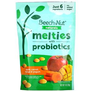 Beech-Nut Nutrition, Naturals, Melties with Probiotics, Stage 3, Apple, Carrot, Mango & Yogurt, 1 oz (28 g)