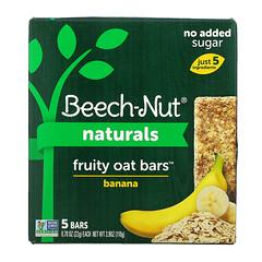 Beech-Nut, Naturals,果味燕麥棒,4 段,香蕉味,5 根,每根 0.78 盎司(22 克)