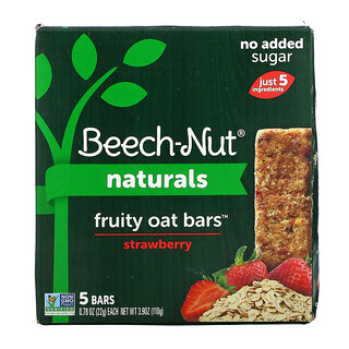 Beech-Nut, Naturals, Fruit Oat Bars, Stage 4, Strawberry, 5 Bars, 0.78 oz (22 g) Each