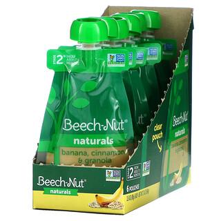 Beech-Nut, Naturals,2 段,香蕉、肉桂和格兰诺拉麦片,6 袋,每袋 3.5 盎司(99 克)