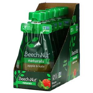 Beech-Nut Nutrition, Naturals, Stage 2, Apple & Kale, 6 Pouches, 3.5 oz (99 g) Each'