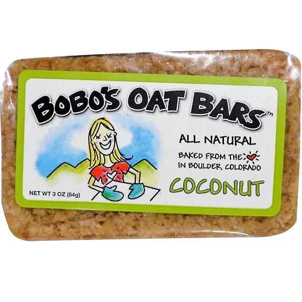 Bobo's Oat Bars, Barra de coco, 3 oz (85 g)