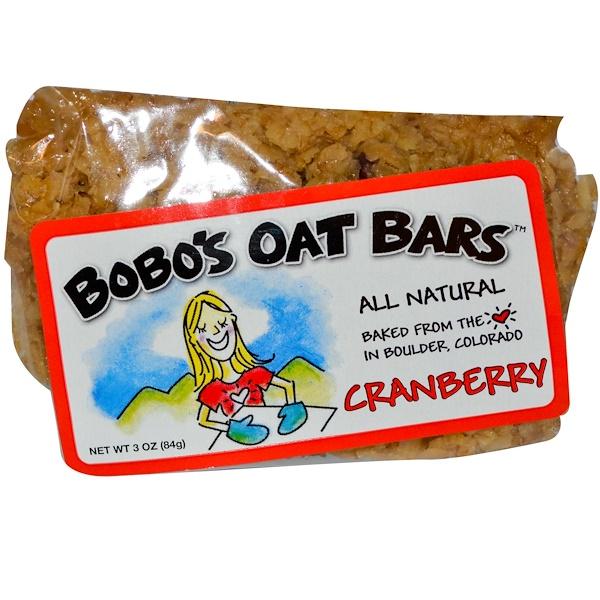Bobo's Oat Bars, Cranberry, 3 oz (84 g) (Discontinued Item)