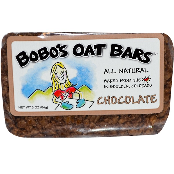 Bobo's Oat Bars, Chocolate, 3 oz (85 g) (Discontinued Item)