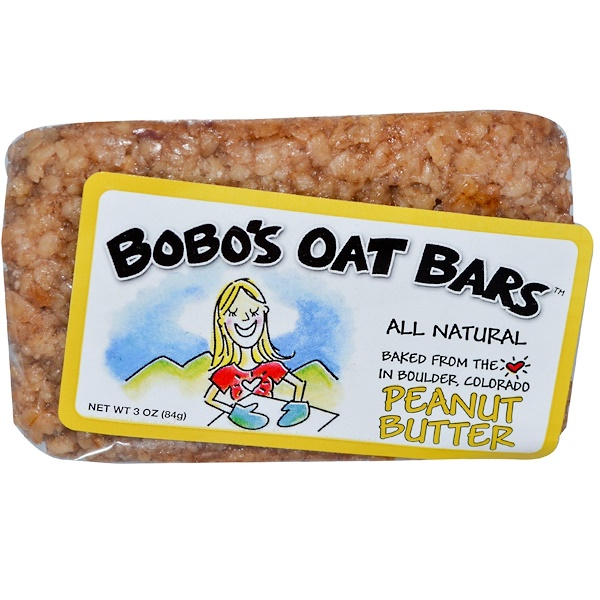 Bobo's Oat Bars, Peanut Butter, 3 oz (84 g) (Discontinued Item)